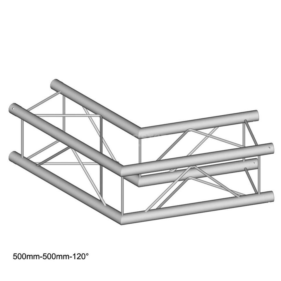 DURATRUSS DT 24 C22-L120, 4-Point Truss 120° Corner, 2-Way, 50cm Produktbillede