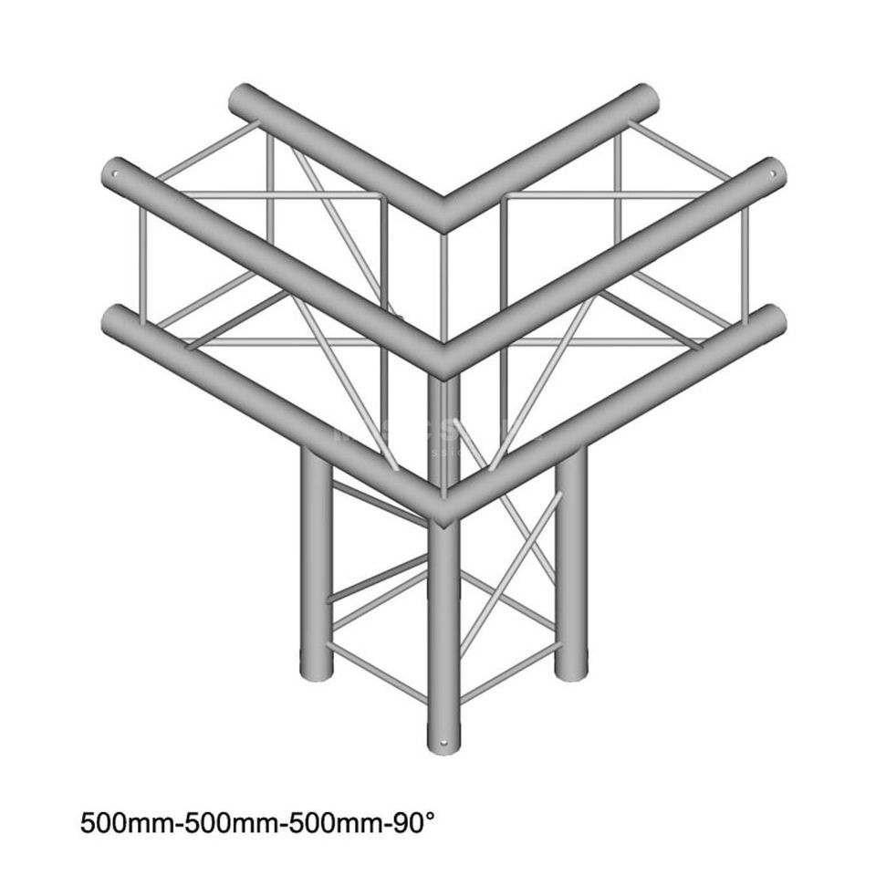 DURATRUSS DT 24 C30 90, 4-Point Truss 90° Corner, 3-Way, 50cm Produktbillede