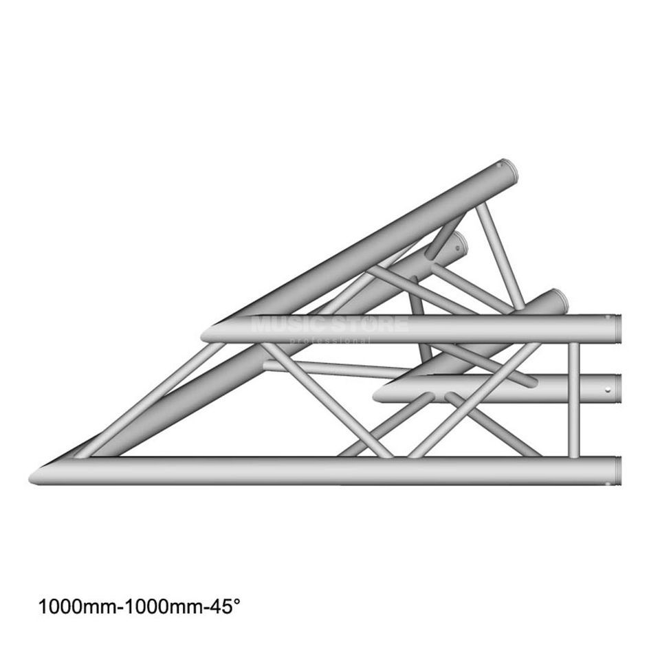 DURATRUSS DT 33 C19-L45 3-Point Truss 45° Corner, 2-Way, 100cm Produktbillede