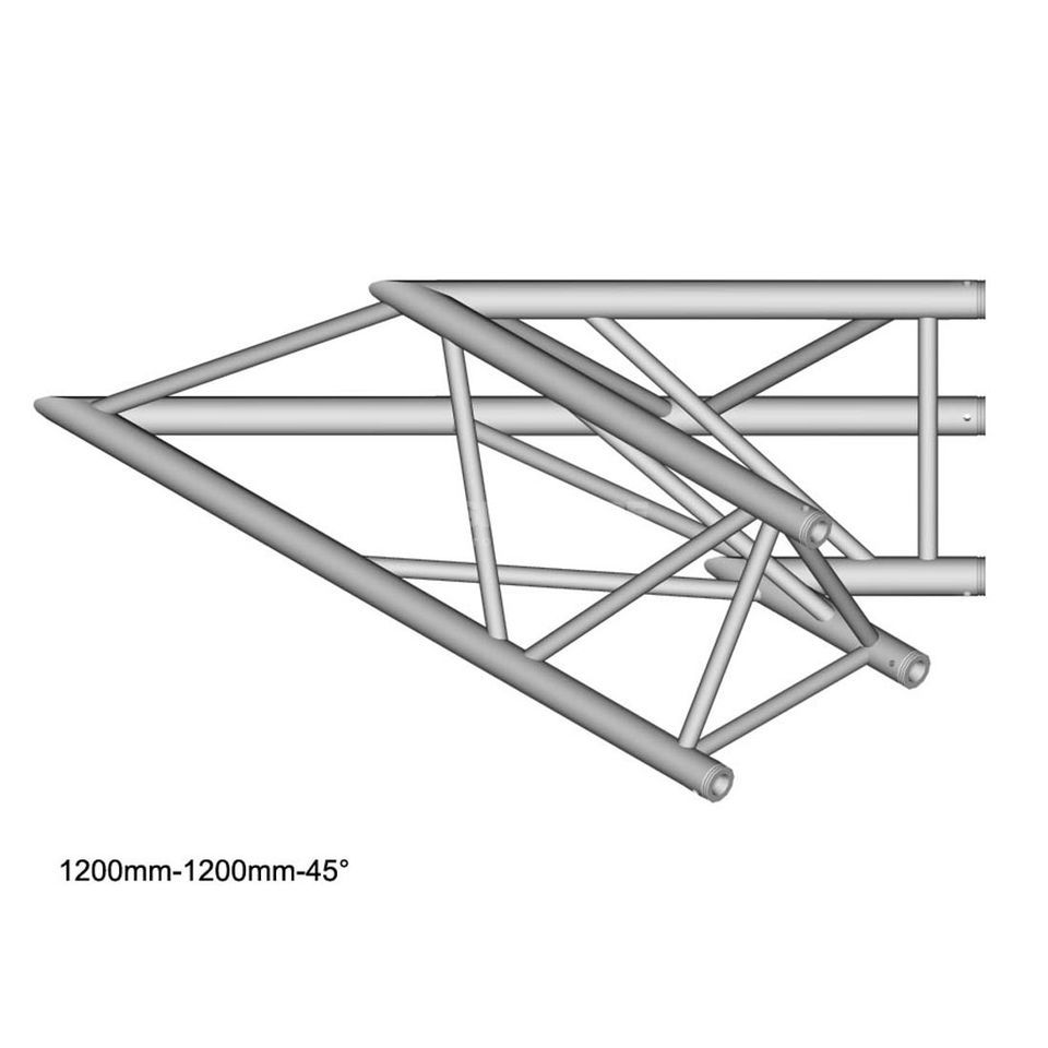 DURATRUSS DT 43 C19-L45, 3-Point Truss 45° Corner, 2-Way Produktbillede