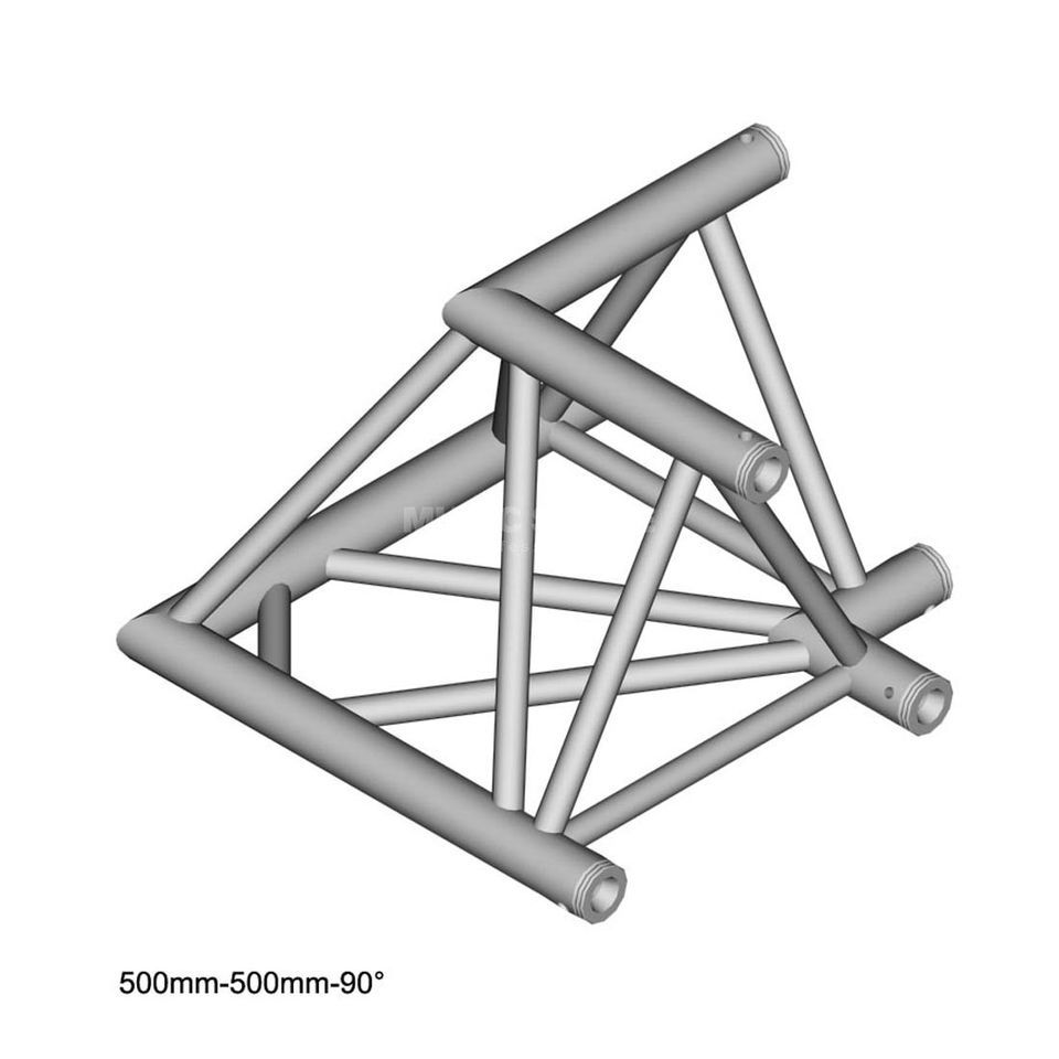 DURATRUSS DT 43 C21-L90, 3-Point Truss 90° Corner, 2-Way Produktbillede