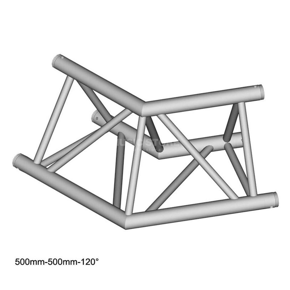 DURATRUSS DT 43 C22-L120, 3-Point Truss 120° Corner, 2-Way Produktbillede