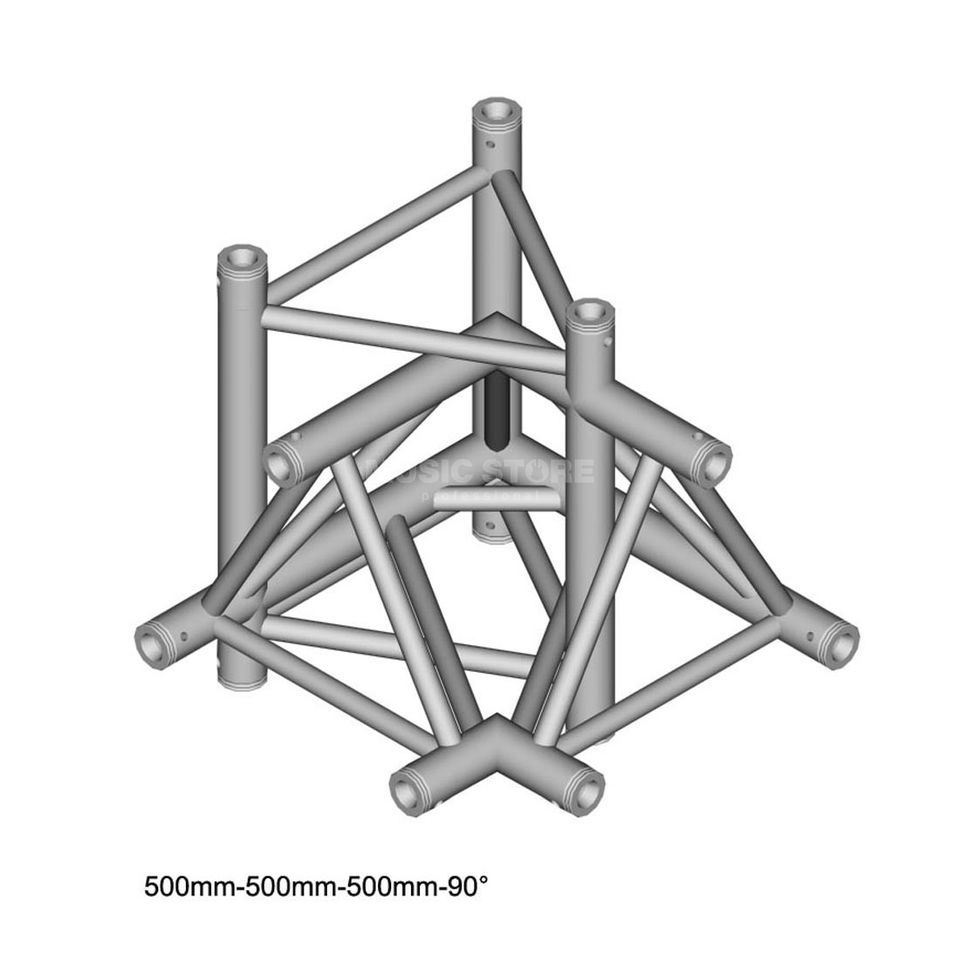 DURATRUSS DT 43 C45-LUDL, 3-Punkt Truss 90° Ecke, 4-weg, links Produktbild