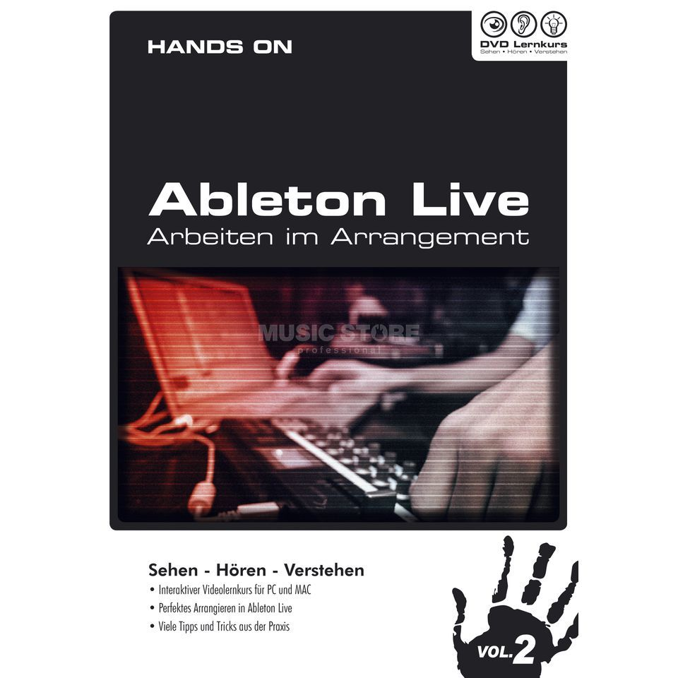 DVD Lernkurs Hands On Ableton Live Vol.2 Arrangement Produktbillede