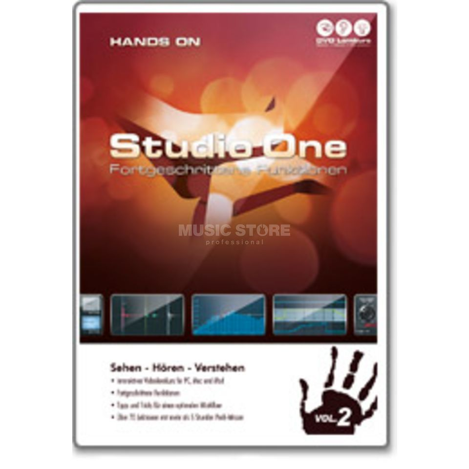 DVD Lernkurs Hands On Studio One Two Vol.2 Advanced Produktbillede