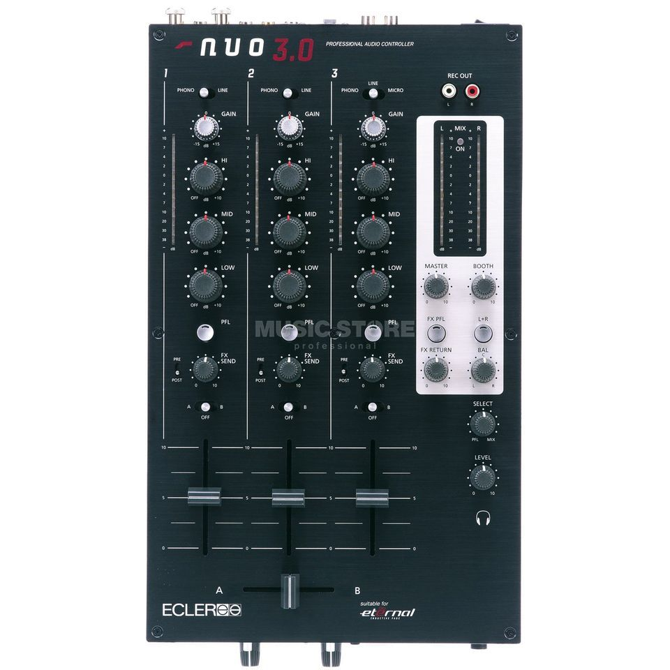 Ecler NUO 3.0 3-Channel DJ-Mixer Product Image