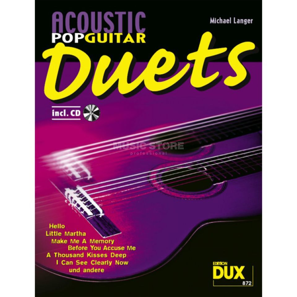 Edition Dux Acoustic Pop Guitar Duets inkl. CD Produktbild