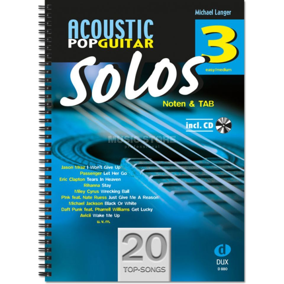 Edition Dux Acoustic Pop Guitar Solos 3 Produktbild