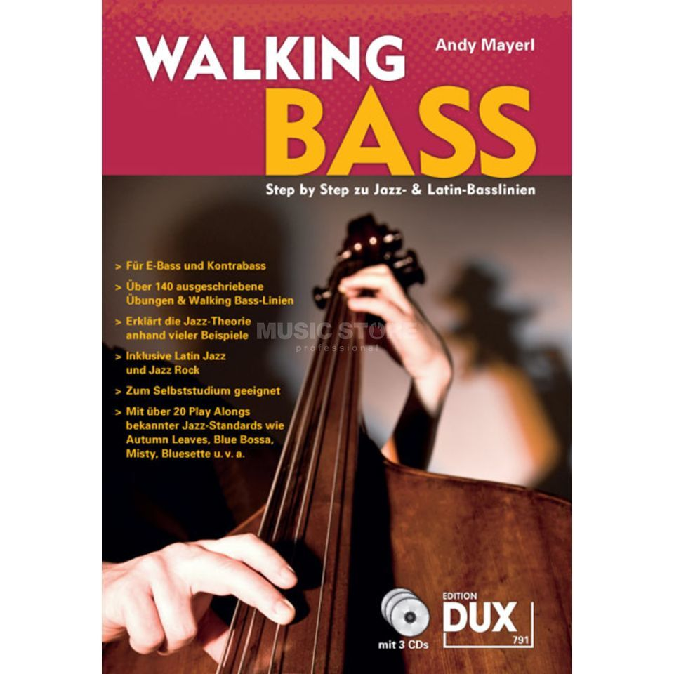 Edition Dux Walking Bass Mayerl, Buch/3 CDs Produktbillede