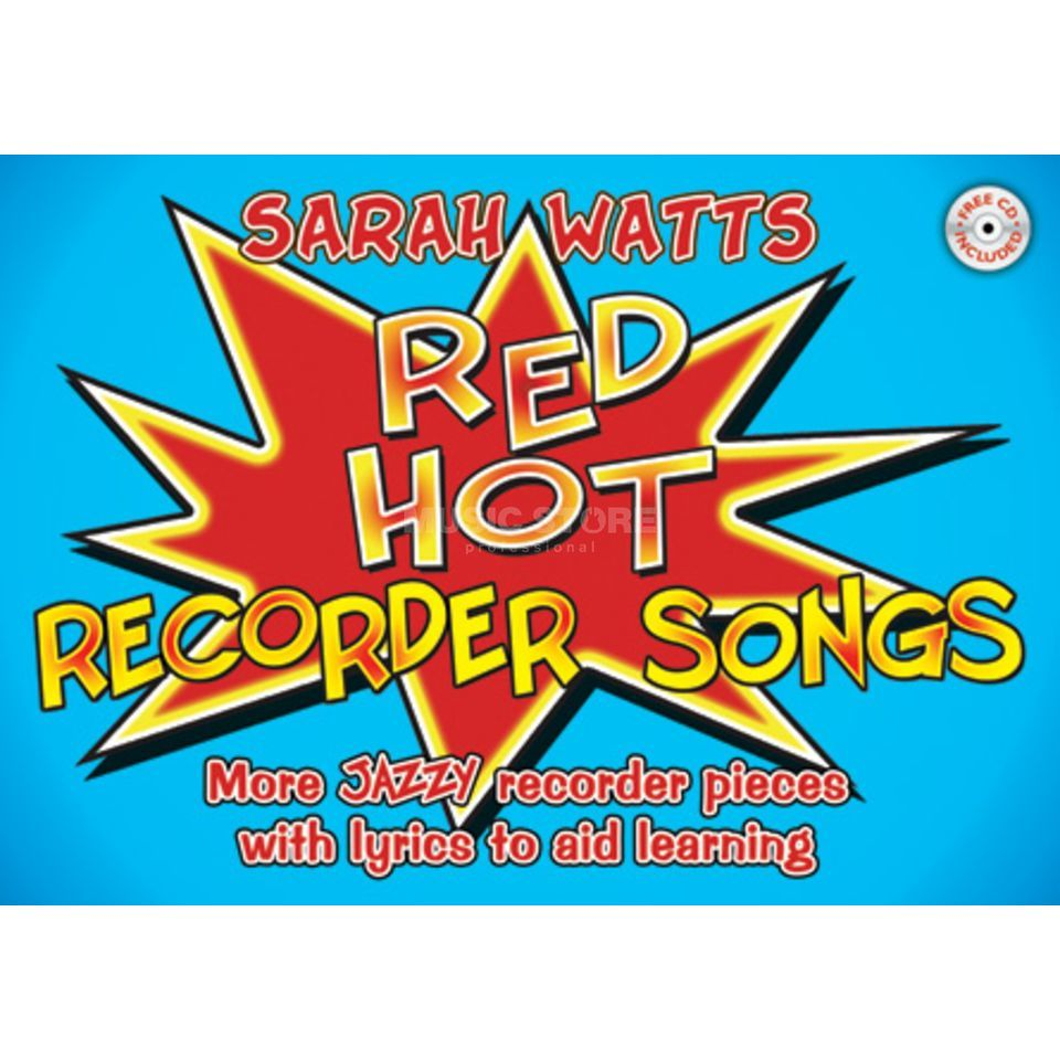 Edition Kevin Mayhew Red Hot Recorder Songs Student, incl. CD Produktbillede
