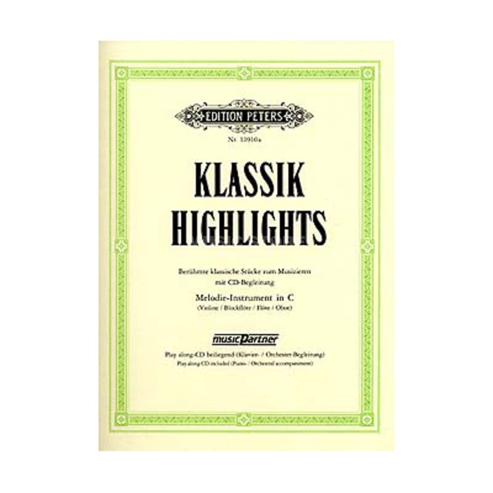 Edition Peters Klassik-Highlights 1 Blockflöte/Oboe, Buch/CD Produktbillede
