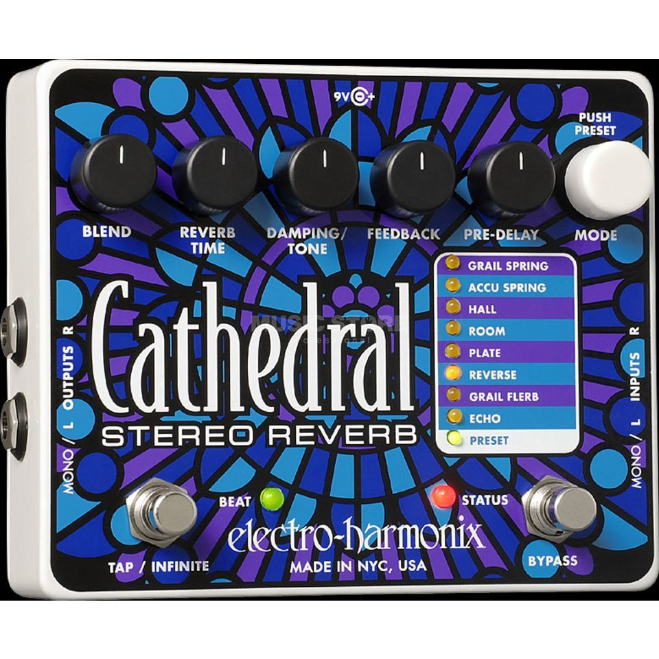 Electro Harmonix Cathedral Stereo Reverb Guitar  Effects Pedal   Produktbillede