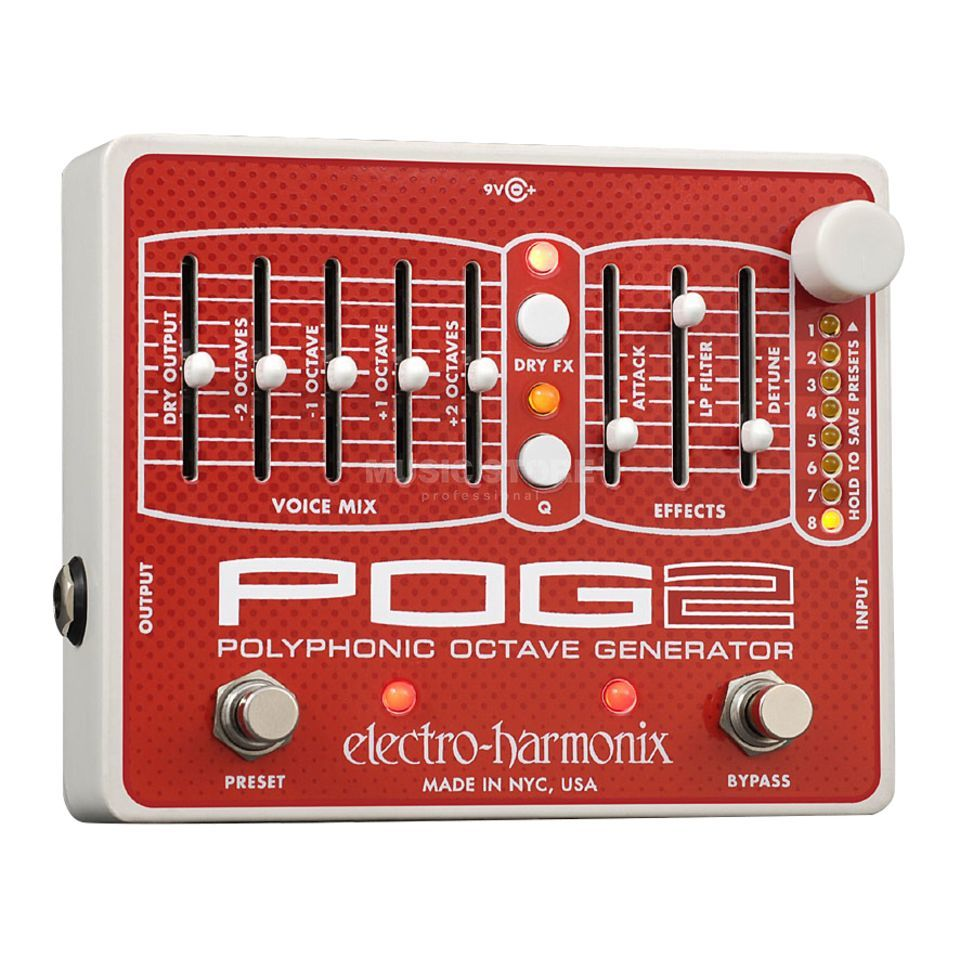 Electro Harmonix POG2 Polyphonic Octave Generat or Guitar Effects Pedal   Produktbillede