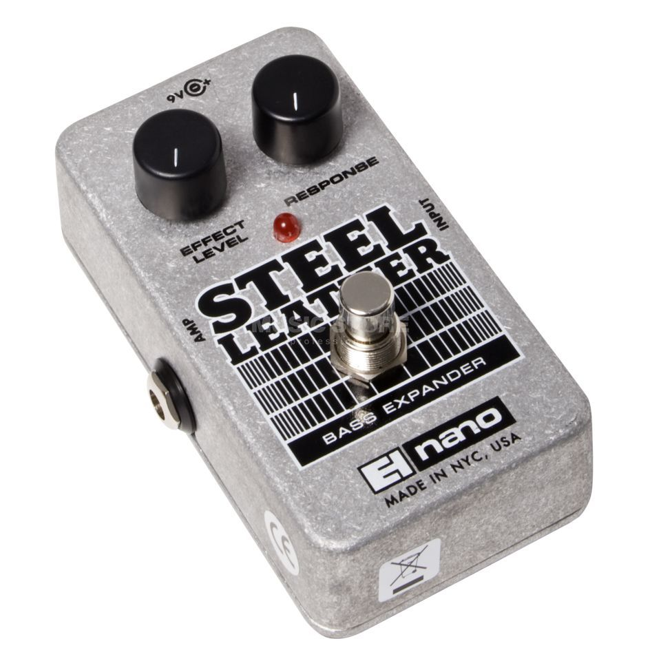Electro Harmonix Steel Leather Bass Guitar Effe cts Pedal   Product Image