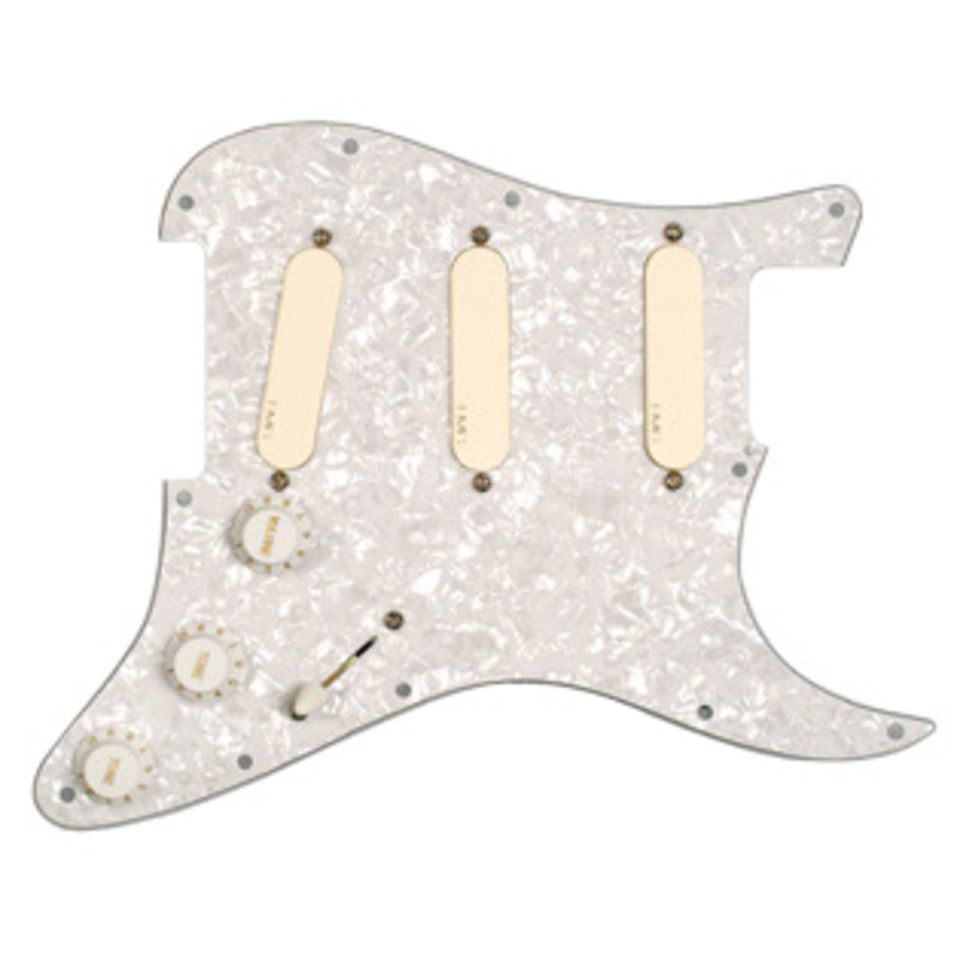 EMG DG 20 David Gilmour Set white perloid Pickguard Produktbild