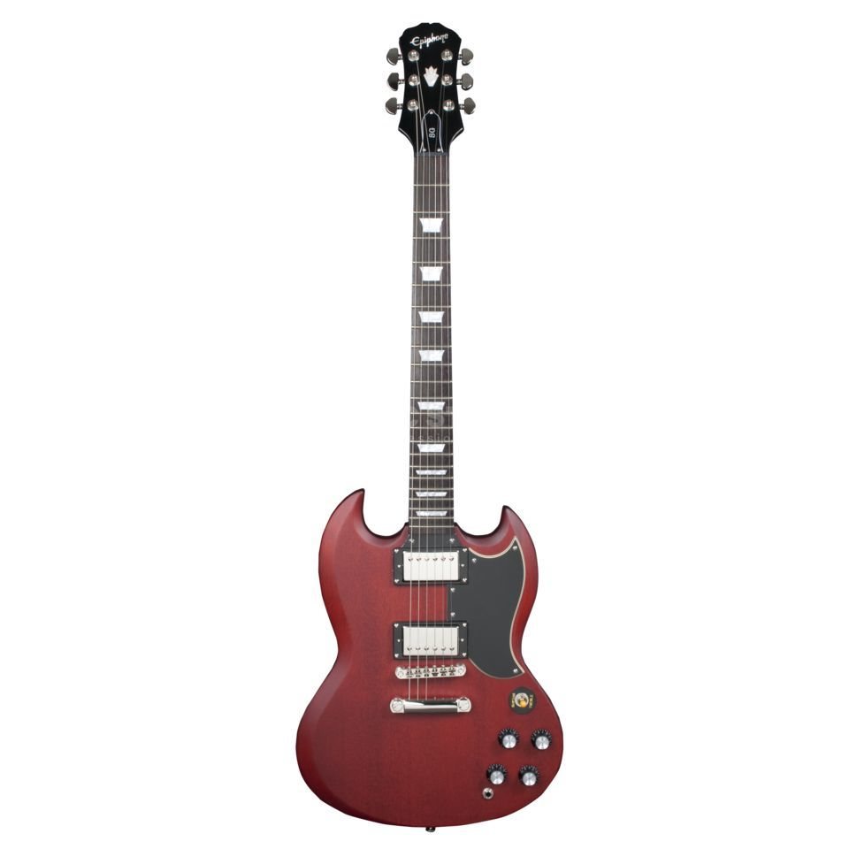Epiphone 1966 G-400 Electric Guitar, Fa ded Worn Cherry   Produktbillede