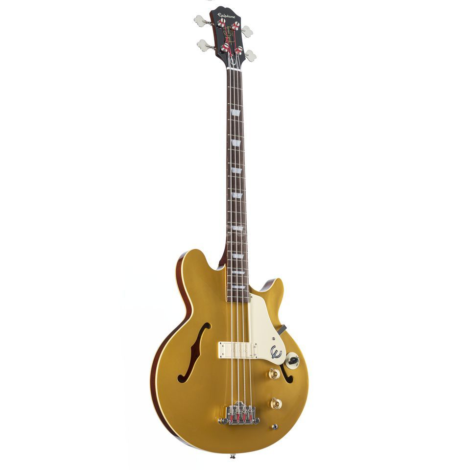 "Epiphone Jack Casady Signature Bass 34"" Scale Met. Gold B-Stock Product Image"