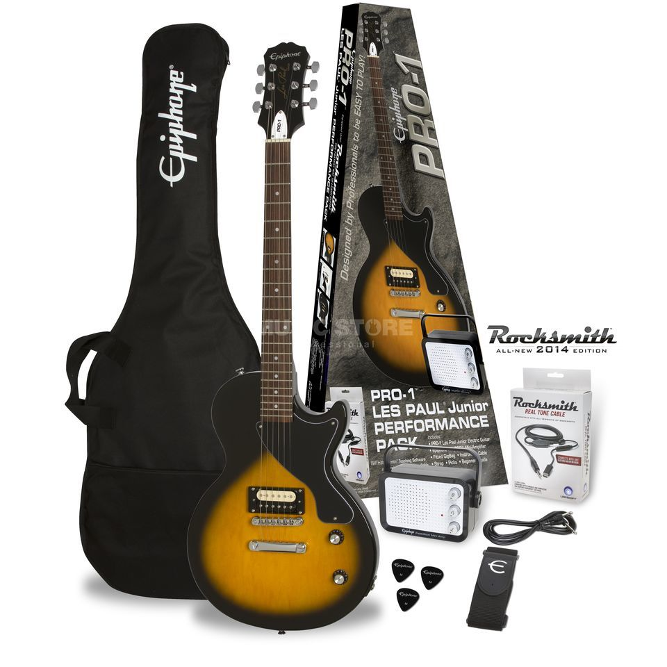 Epiphone PRO-1 Les Paul Junior Performance Pack Vintage Sunburst Product Image