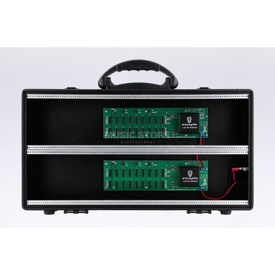 Erica Synths Travel Case 2x104TE inklusive PSU Produktbillede