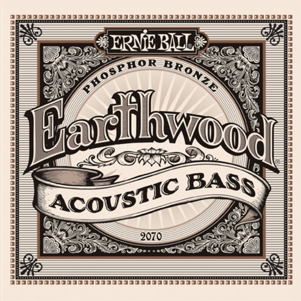 Ernie Ball 4er bas Earthwood Acoen 45-95 Phosphor Bronze 45-55-80-95 Productafbeelding