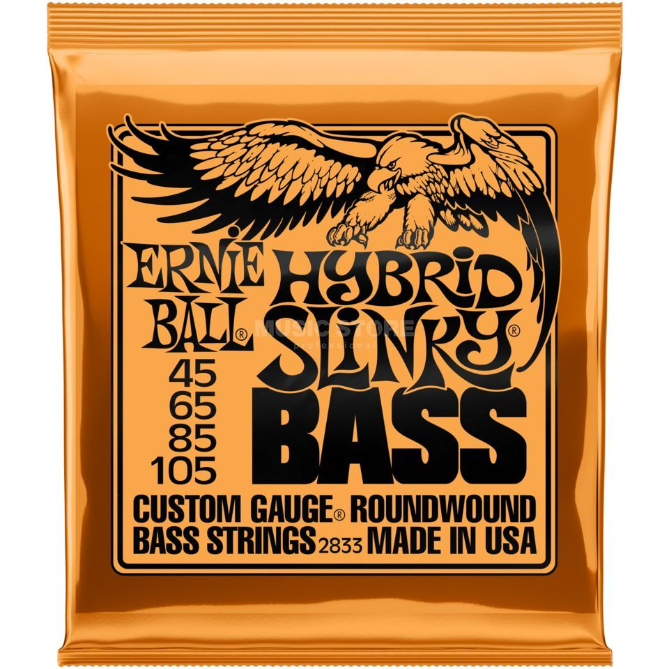 Ernie Ball Bass Strings, 45-105,HybridS Roundwound Long Scale Zdjęcie produktu