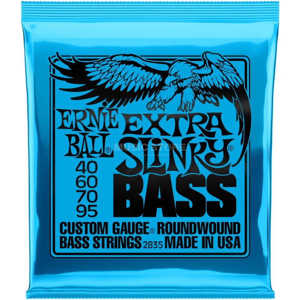 Ernie Ball Bass Strings,4er,40-95,ExtraS. Slinky Roundwound Long Scale Product Image