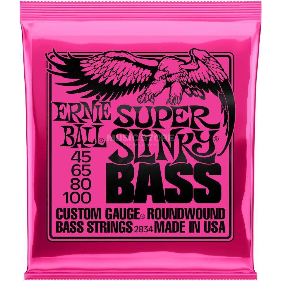 Ernie Ball Cordes basse,4er,45-100, SuperS, filet rond  Image du produit