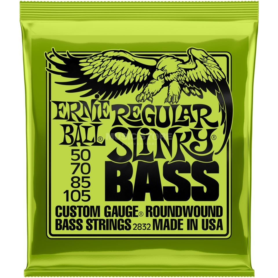 Ernie Ball Cordes basse,4er,50-105,Regula r, filet rond long diapason Image du produit