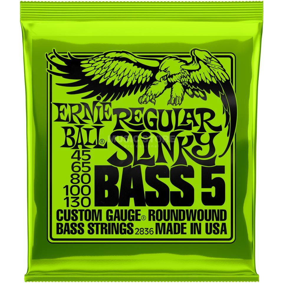 Ernie Ball Cordes basse,5er,45-130, Regular, filet rond  Image du produit