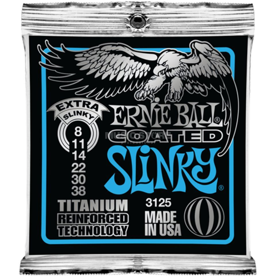 Ernie Ball E-Guitar Strings 08-38 Coated Titanium Extra Slinky EB3125 Produktbillede