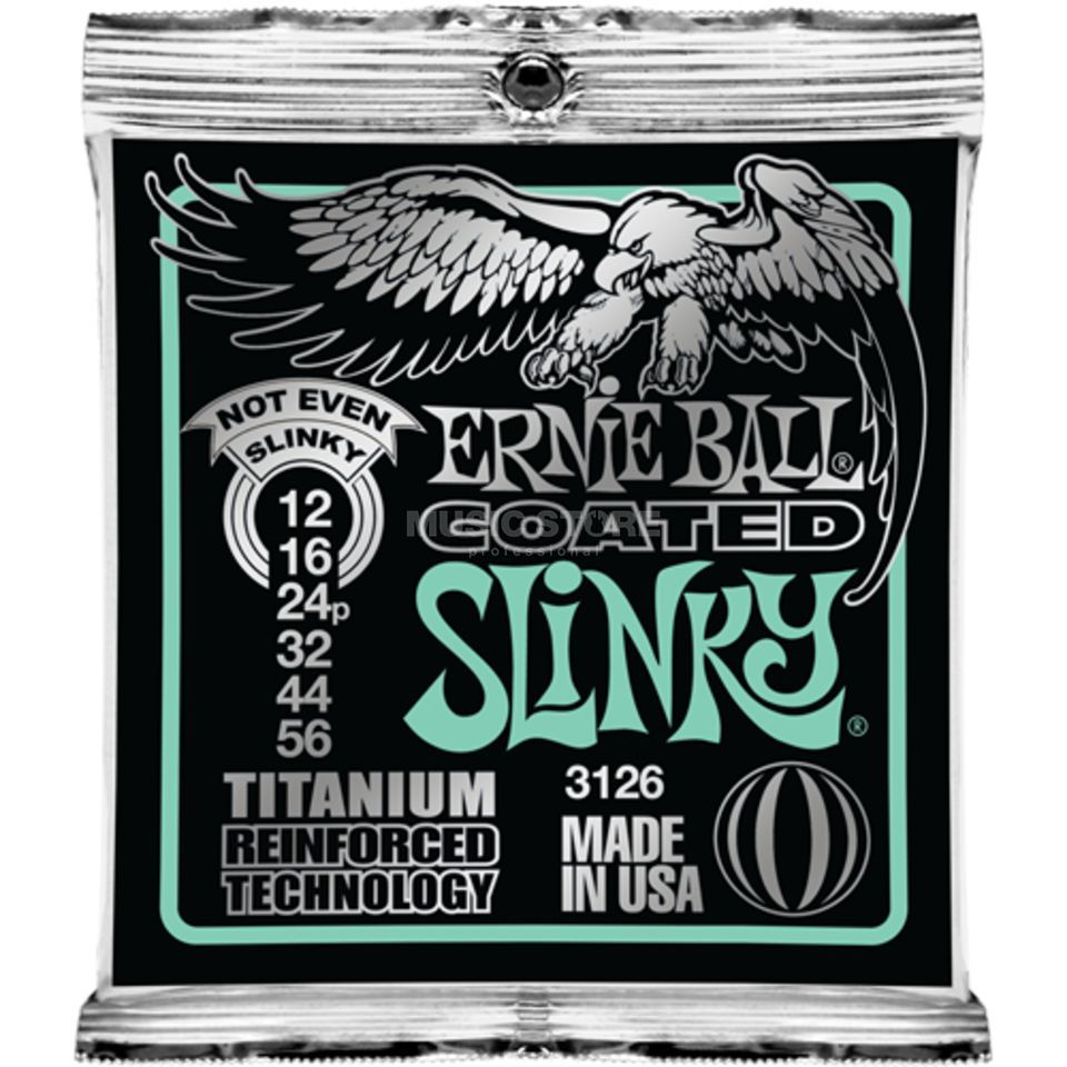 Ernie Ball E-Guitar Strings 12-56 Coated Titanium Not Even SlinkyEB3126 Produktbillede