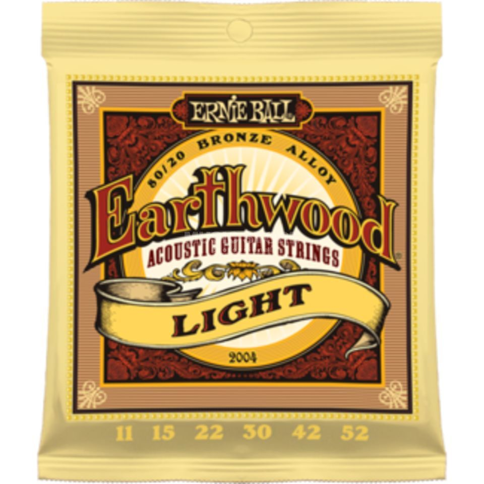 Ernie Ball EB2004 11-52 Earthwood 80/20 Bronze Light Produktbild