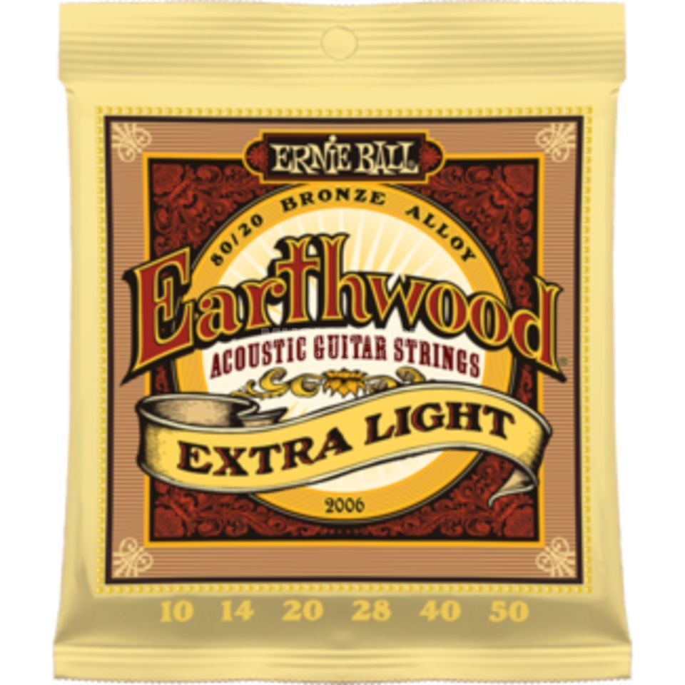 Ernie Ball EB2006 10-50 Earthwood 80/20 Bronze Extra Light Produktbild