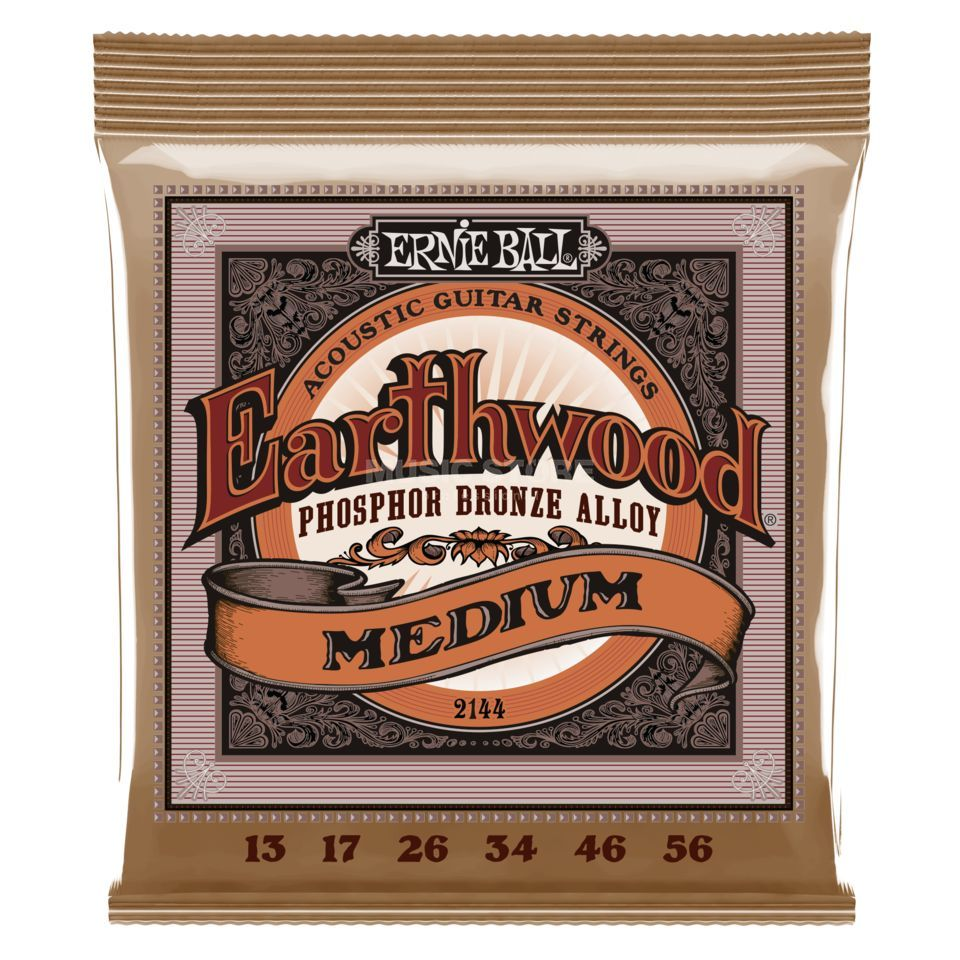 Ernie Ball EB2144 13-56 Earthwood Phosphor Bronze Power Slinky Produktbillede