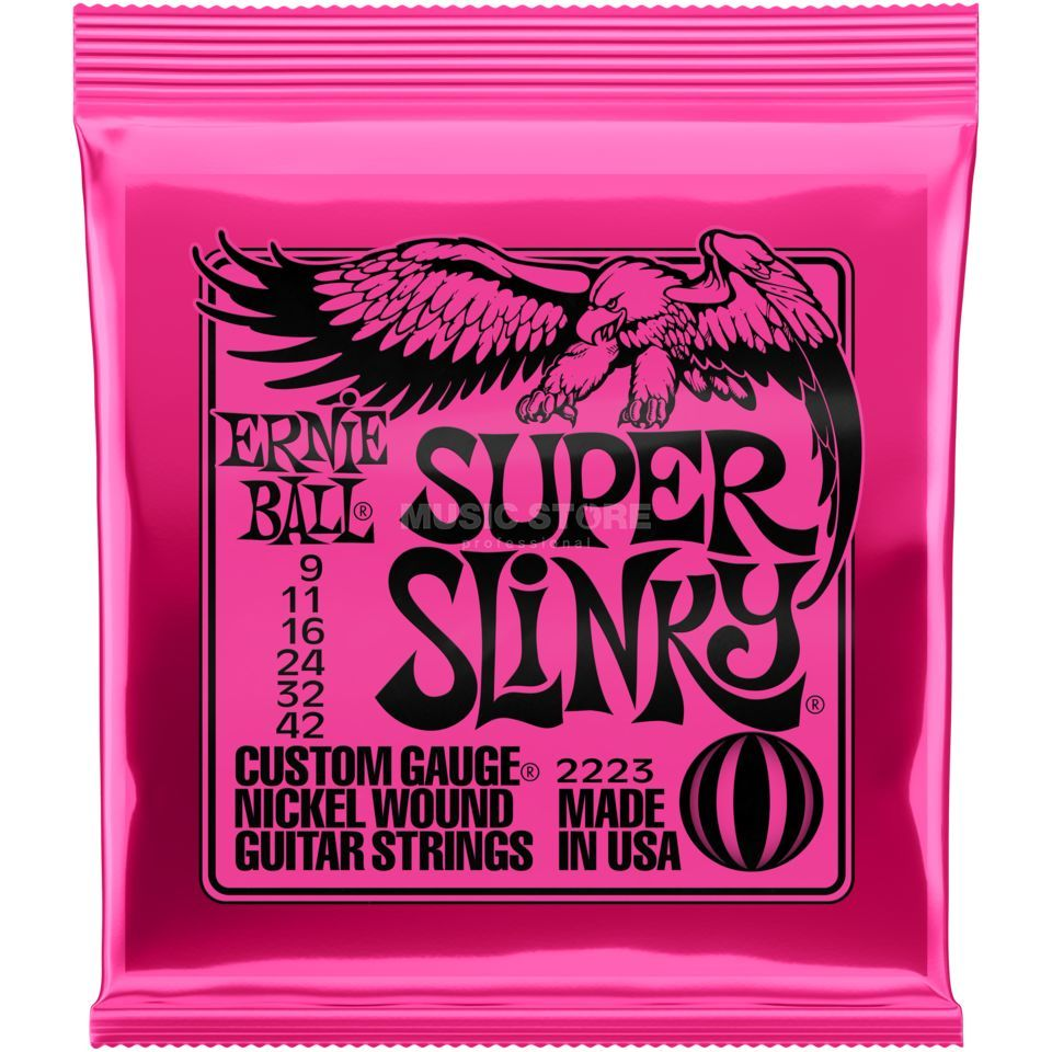 Ernie Ball EB2223 9-42 Super Slinky Nickel Plated Produktbild