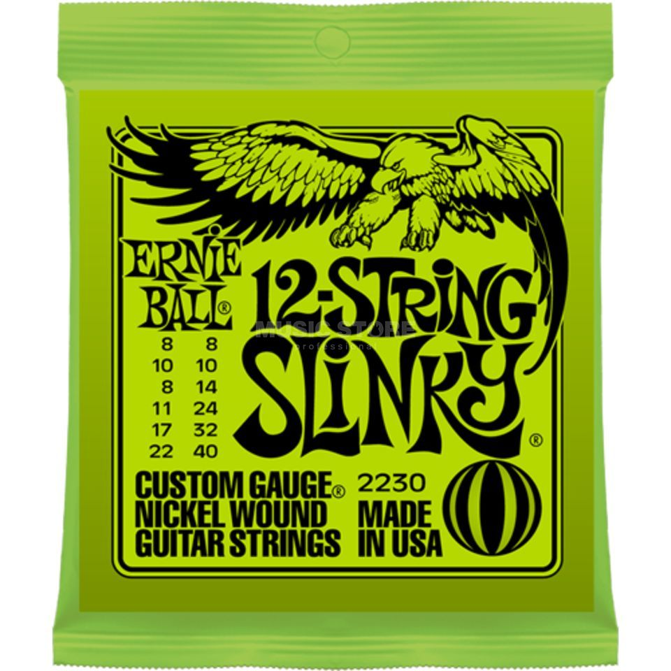 Ernie Ball EB2230 8-40 12-string Slinky Nickel Plated Produktbild