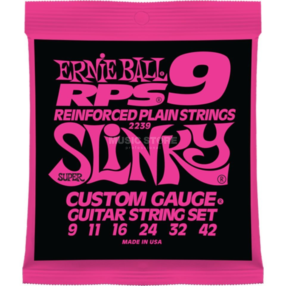 Ernie Ball EB2239 9-42 RPS Super Slinky Reinforced Plain Strings Produktbild