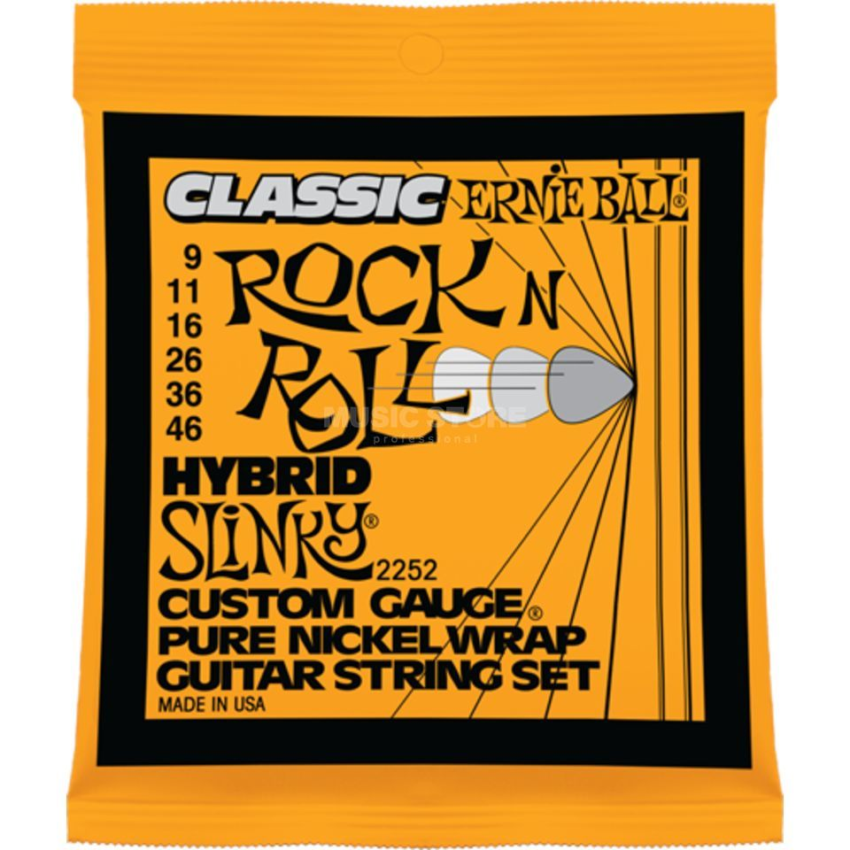 Ernie Ball EB2252 9-46 Rock'n Roll Hybrid Slinky Pure Nickel Produktbild