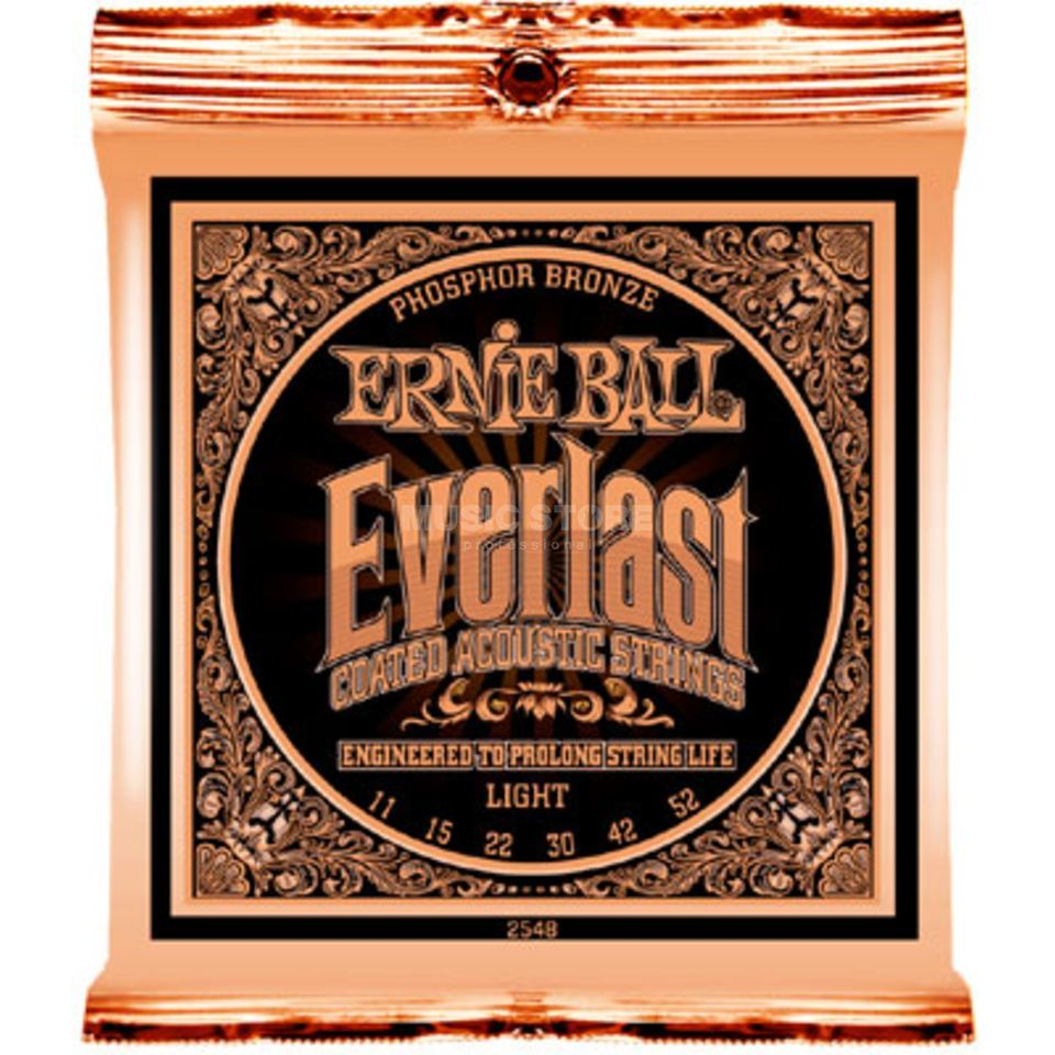 Ernie Ball EB2548 11-52 Everlast Coated Phosphor Bronze Light Produktbild
