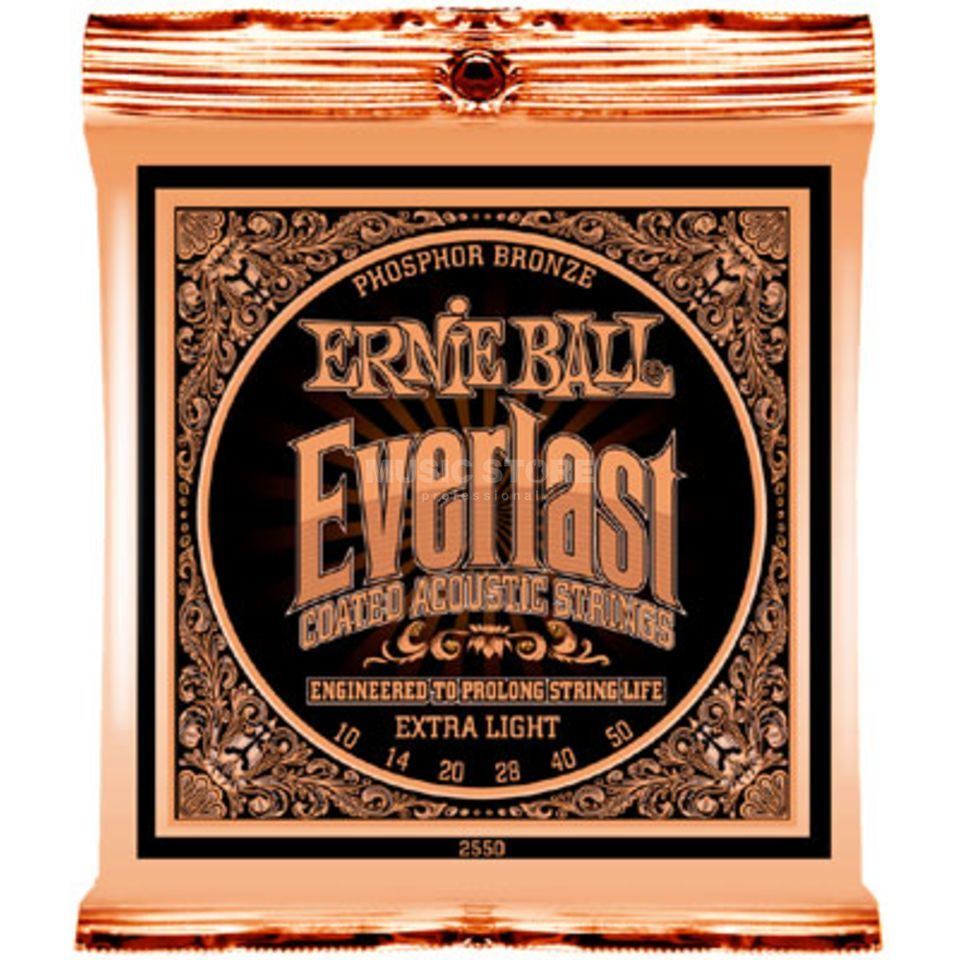 Ernie Ball EB2550 10-50 Everlast Coated 80/20 Bronze Custom Light Produktbild