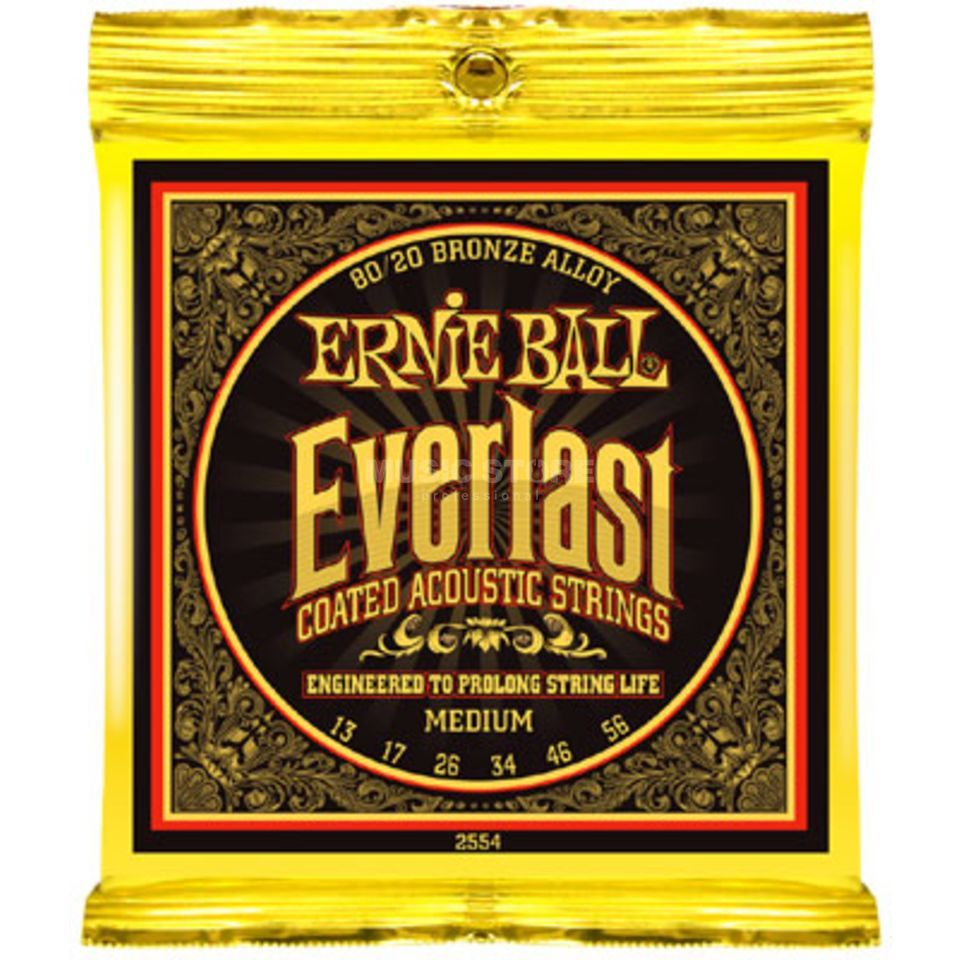 Ernie Ball EB2554 13-56 Everlast Coated 80/20 Bronze Medium Produktbild