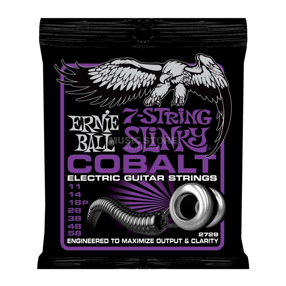 Ernie Ball EB2729 11-58 Cobalt 7-string Power Produktbild