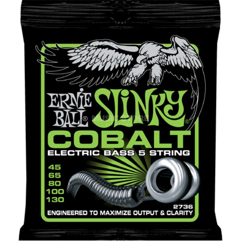 Ernie Ball EB2736 45-130 5-string Cobalt Regular Slinky Productafbeelding