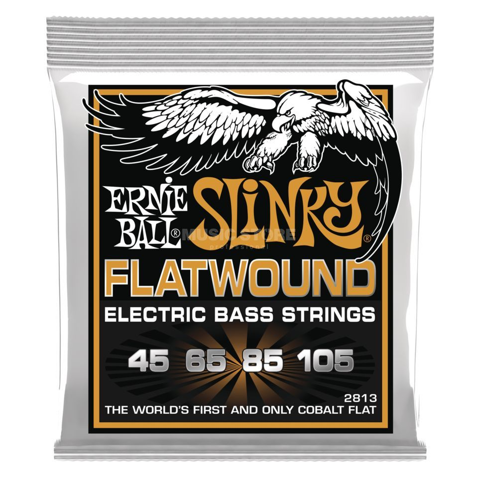 Ernie Ball EB2813 45-105 Flatwound Cobalt Productafbeelding