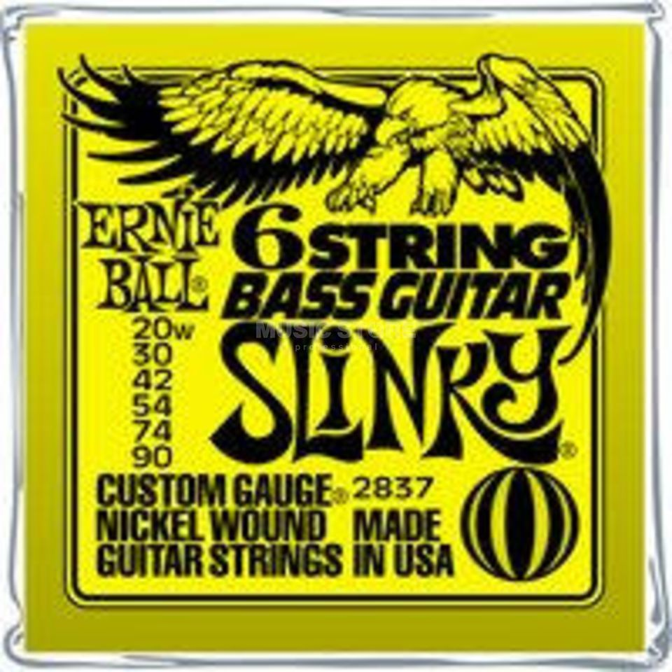 Ernie Ball EB2837 20-90 6-string Baritone Slinky nikkel Plated Productafbeelding