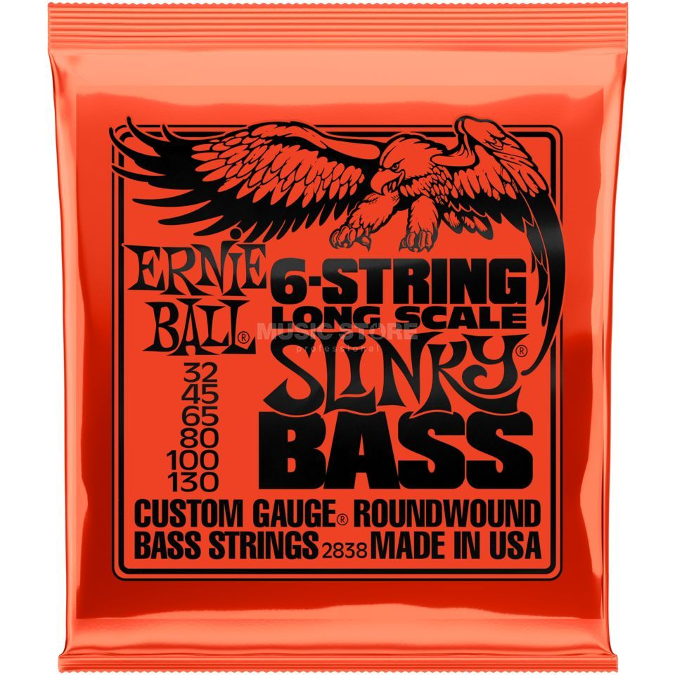 Ernie Ball EB2838 32-130 6-string Regular Slinky Longscale nikkel Plated Productafbeelding