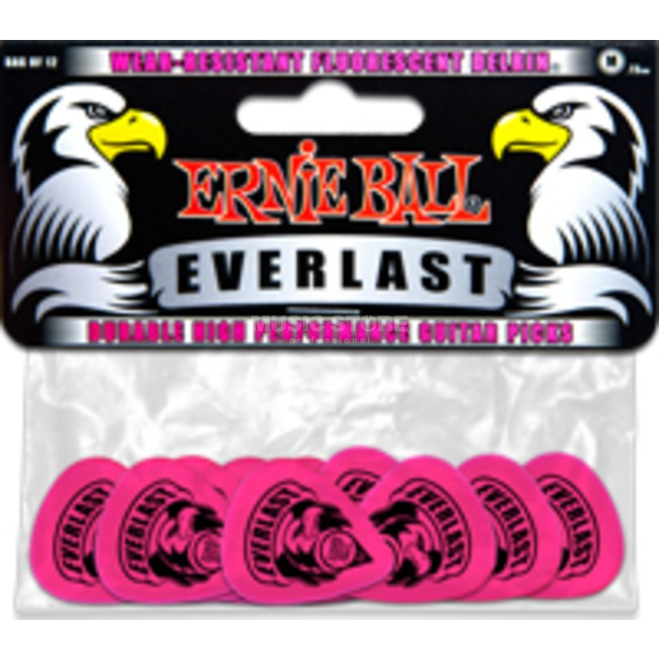 Ernie Ball EB9189 Everlast Picks Medium Pink 12er Set Produktbild