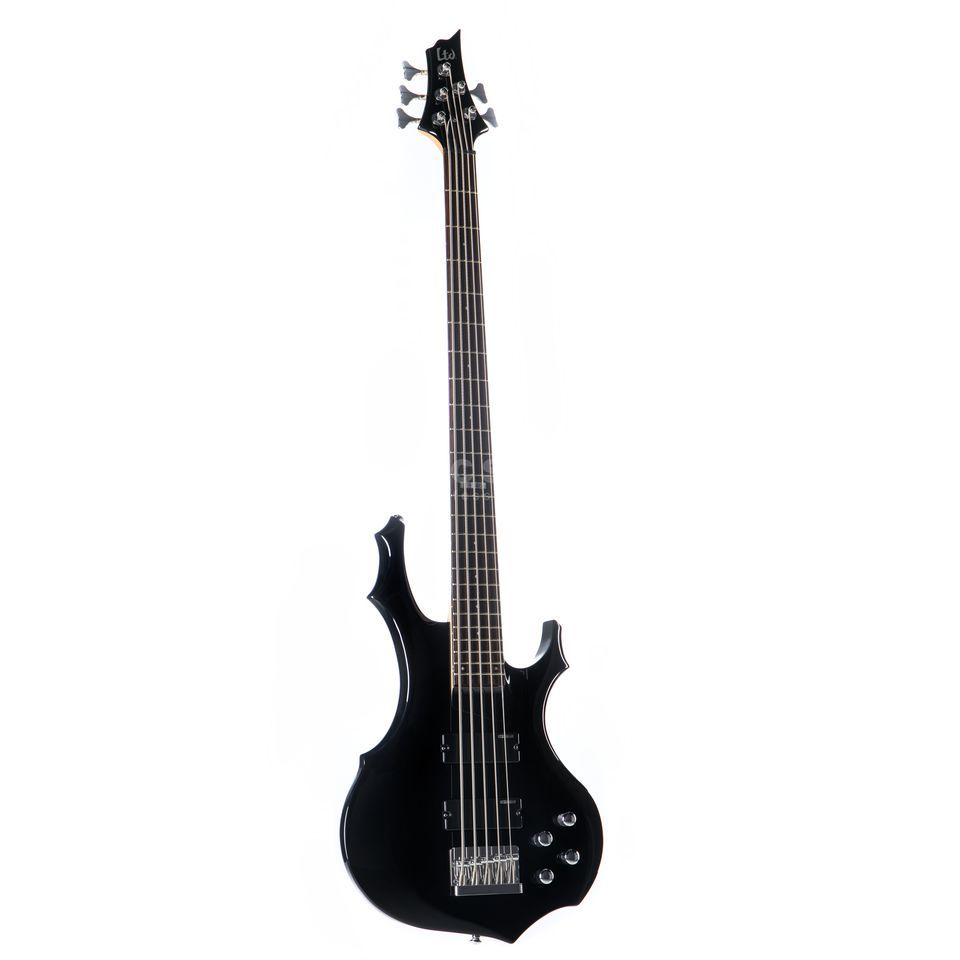 ESP LTD F-105 Bass Guitar, Black    Product Image