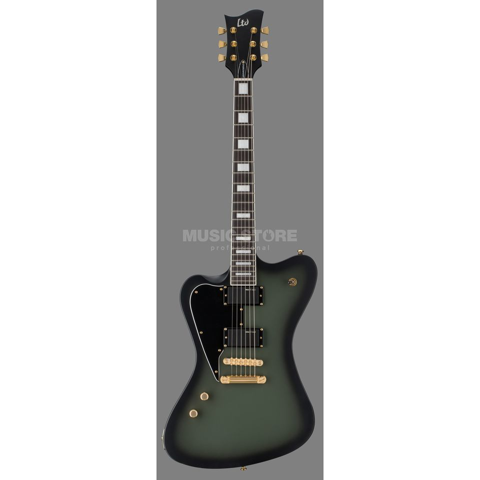 ESP LTD Sparrowhawk Military Green Sunburst Satin Lefthand Bill Kelliher Signature Imagen del producto