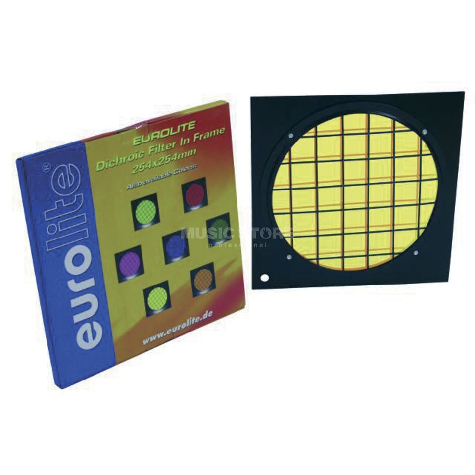 Eurolite Dichroic Filter PAR 64  - Yellow in Black Frame Produktbillede